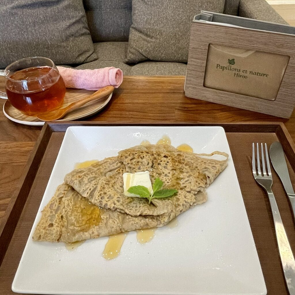 広尾のオーガニックカフェ「パピヨンエナチュール」のガレット