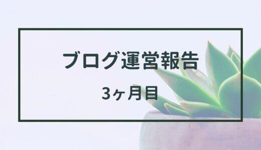 【ブログ】3ヶ月目の運営報告