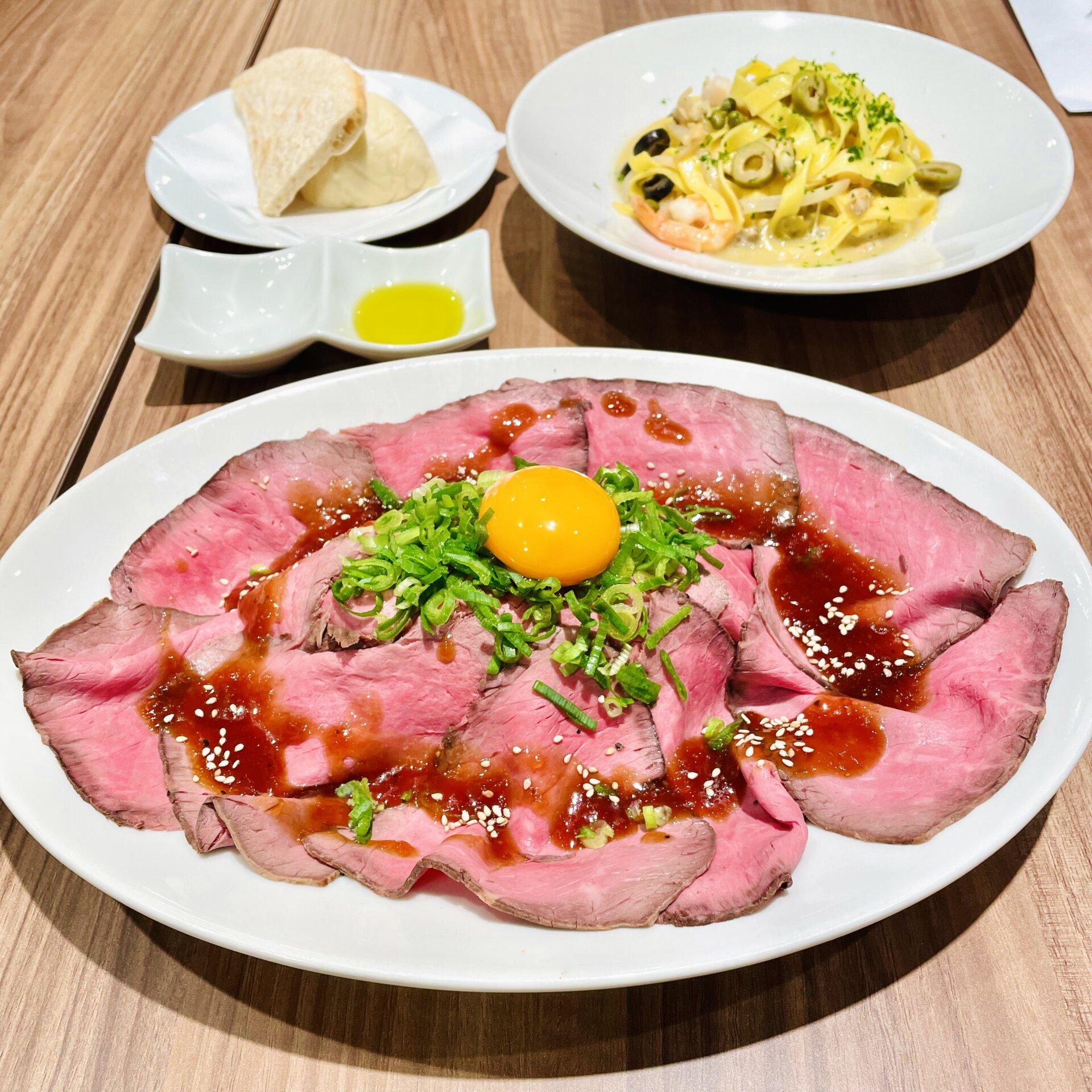 【渋谷マークシティ】成城石井のレストラン!!「Le Bar a Vin 52」ローストビーフ丼
